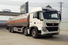 重汽豪沃前四后八25吨铝合金油罐车运油车价格