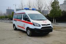 新全顺V362中轴中顶监护型运输型救护车