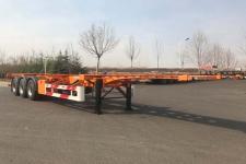 青特12.2米34.2噸3軸危險品罐箱骨架運輸半掛車(QDT9400TWY)