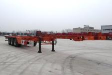 萬祥14米34.3吨3轴集装箱运输半挂车(HWX9402TJZG)