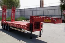 鸿盛业骏12.5米28.5吨3轴低平板半挂车(HSY9400TDP)