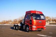 解放后双桥,后八轮危险品运输半挂牵引车424马力(CA4250P66M25T1E6Z)