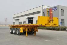 梁山宇翔7.6米31.5吨3轴平板自卸半挂车(YXM9400ZZXP)