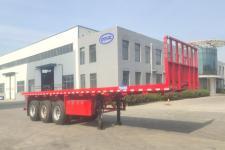 梁山宇翔10米34吨3轴平板运输半挂车(YXM9401TPB)