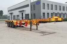 鲁犇14米35.6吨3轴危险品罐箱骨架运输半挂车(TXL9400TWYE45)