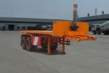 陆锋7.6米29吨平板自卸半挂车