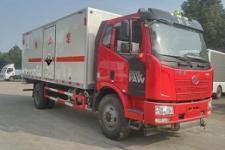 解放6米2腐蚀性危险物品厢式运输车