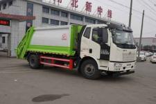 国六解放J6压缩式垃圾车10-14方