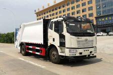 国六解放J6压缩式垃圾车价格