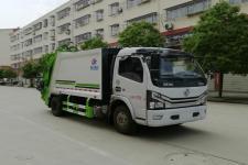 国六东风多利卡6-8方压缩式垃圾车