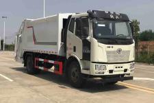 国六解放J6压缩式垃圾车价格13607286060