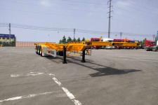 通广九州12.5米34.1吨危险品罐箱骨架运输半挂车图片