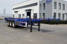 鄆宇12.4米33.7噸3軸危險品罐箱骨架運輸半掛車(YJY9400TWY)