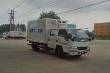 蓝牌江铃顺达双排3.6米蔬菜冷藏车