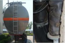 特运牌DTA9401GYYC型铝合金运油半挂车图片