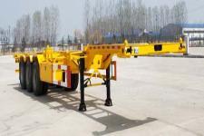 鲁际通牌LSJ9402TJZE型集装箱运输半挂车 40尺小鹅颈骨架