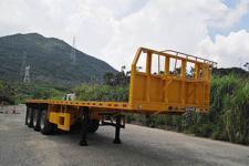 中集10米33.9噸3軸平板半掛車(ZJV9401TPSZ)