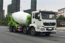 国六陕汽后八轮混凝土搅拌运输车