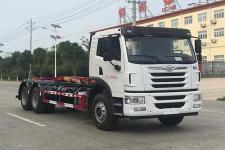 國六解放后八輪車廂可卸式垃圾車