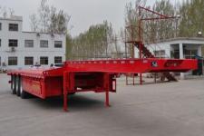 梁山宇翔12.5米33.1吨3轴低平板半挂车(YXM9401TDP)
