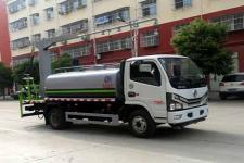国六东风5吨洒水车多功能抑尘车价格