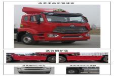 豪瀚牌ZZ4255V3446E1W型危险品牵引车图片