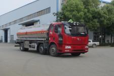 国六解放J6小三轴铝合金运油车