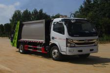 国六东风多利卡8方压缩式垃圾车