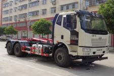 国六解放J6勾臂式垃圾车