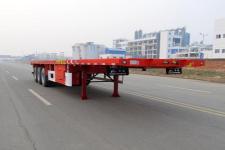 華駿12.4米31.9噸3軸平板半掛車(ZCZ9402TPBHJC)