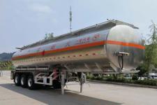 专致11.5米33.6吨3轴铝合金易燃液体罐式运输半挂车(YZZ9404GRYLZ)