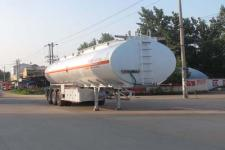 程力威13米32.1吨3铝合金易燃液体罐式运输半挂车