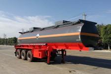 楚胜10米31吨3轴腐蚀性物品罐式运输半挂车(CSC9409GFW)