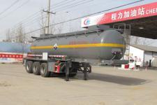 程力威9.5米30.5吨3轴腐蚀性物品罐式运输半挂车(CLW9404GFWB)