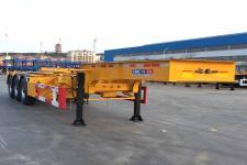中集10.9米34.3噸3軸危險品罐箱骨架運輸半掛車(ZJV9405TWYQDS)