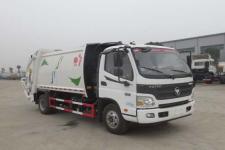 福田高端歐馬可康明斯154馬力8方壓縮垃圾車價格