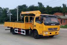 國五東風多利卡隨車起重運輸車的價格