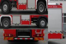 川消牌SXF5190GXFSG80型水罐消防车图片