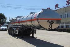 醒狮10.8米32.7吨3轴易燃液体罐式运输半挂车(SLS9401GRYD)