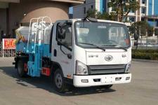 永康市垃圾车在那里买解放小卡自装卸式垃圾车价格