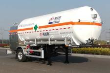 圣达因7.6米10.9吨1轴低温液体运输半挂车(SDY9180GDYN)