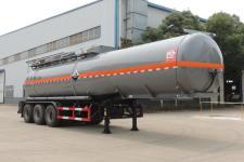 醒狮12.1米31.2吨3轴腐蚀性物品罐式运输半挂车(SLS9403GFW)