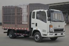 重汽HOWO轻卡国五单桥仓栅式运输车95-212马力5吨以下(ZZ5047CCYF3315E145)
