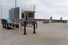 锣响12.5米34.2吨3轴危险品罐箱骨架运输半挂车(LXC9400TWYE)