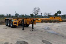 楚风10.1米35.4吨3轴危险品罐箱骨架运输半挂车(HQG9401TWY)