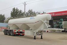 程力威12.1米29.7噸3軸中密度粉粒物料運輸半掛車(CLW9403GFL)