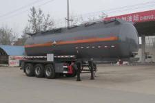 程力威10.1米30吨3轴腐蚀性物品罐式运输半挂车(CLW9407GFW)