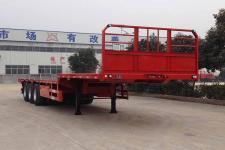 粱鋒12米33.5噸3軸平板運輸半掛車(LYL9400TPBE)