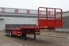 腾运12米33.4吨3轴平板运输半挂车(LLT9400TPBE)