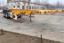 中梁宝华12.2米33.5吨3轴危险品罐箱骨架运输半挂车(YDA9400TWY)
